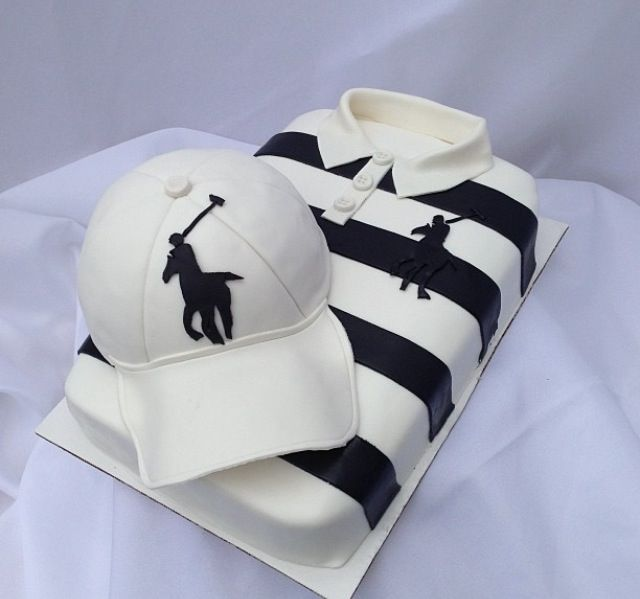 Polo hat and shirt cake