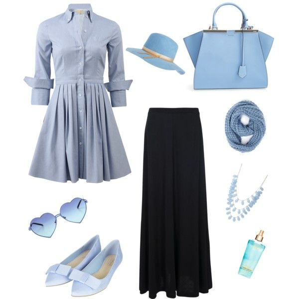 Sky by muslimco on Polyvore featuring polyvore, mode, style, Michael Kors, French Connection, Topshop, Fendi, Calypso Private Label, Wildfox and Paula Bianco