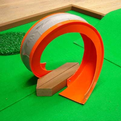 For the very adventurous, make your own golf course and loop-de-loop for family activity