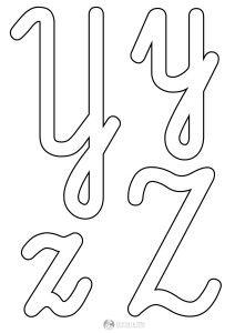 szablon liter Y y Z z