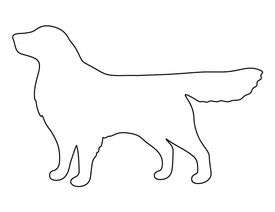 Golden retriever pattern. Use the printable outline for crafts, creating stencils, scrapbooking, and more. Free PDF template to download and print at http://patternuniverse.com/download/golden-retriever-pattern/
