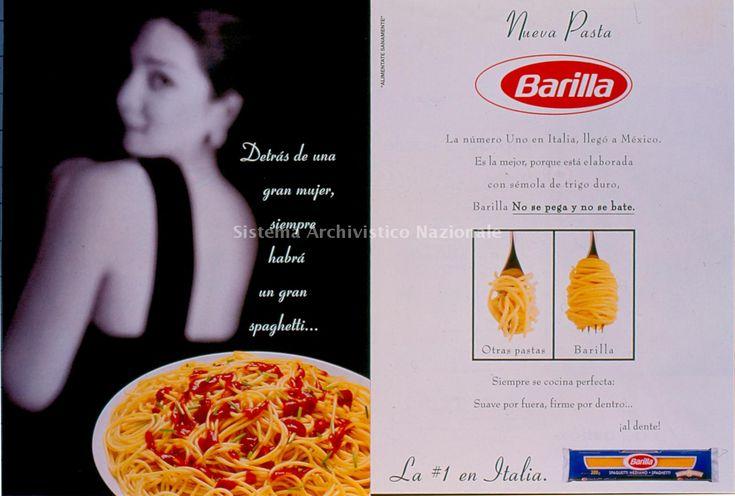 Immagine della Campagna Stampa Barilla Messico del 1996