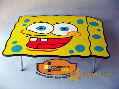 Meja Lipat Karakter Spoonge Bob Lucu untuk anak-anak Retail/Grosir Meja Lipat Karakter Lucu untuk anak-anak ,ringan d
