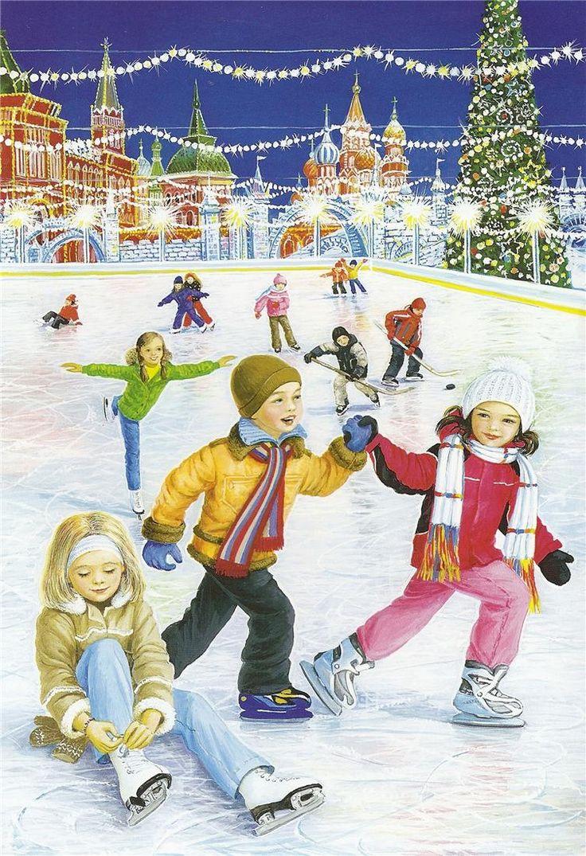 Скачать Картинки зима дети играют 753x1100 px