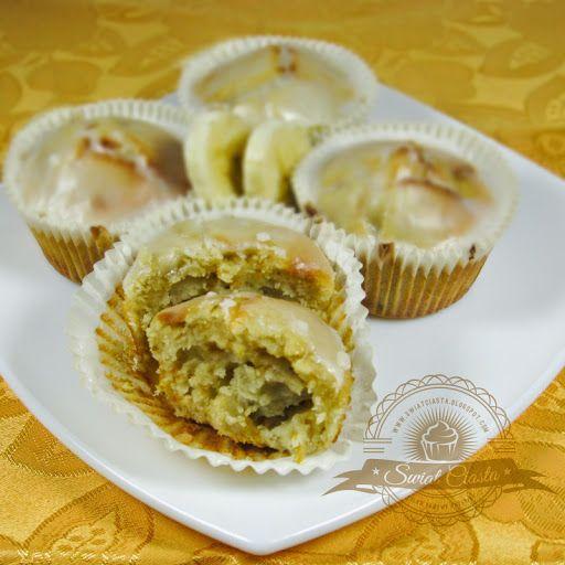 Bananowe muffinki z szafranem   Świat Ciasta