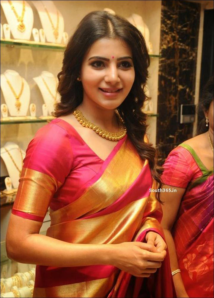 Pink and gold-Blouse Designs For Silk Sarees