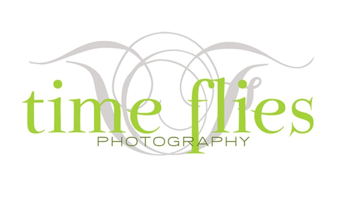 Logo Design for Time Flies Photography by The Posh Perspective Design Studio
