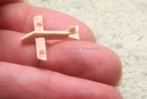 How to Make a Range of Toys in Dollhouse Miniature Scales: Make Tiny Balsa Wood Gliders