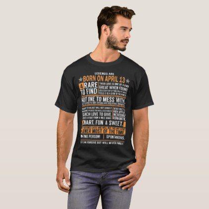 Kings Legends Are Born On April 13 T-Shirt  $33.60  by teebirthday  - custom gift idea