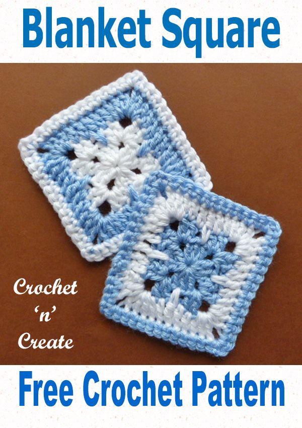 Free Crochet Pattern Blanket Square Crochet Pinterest Free