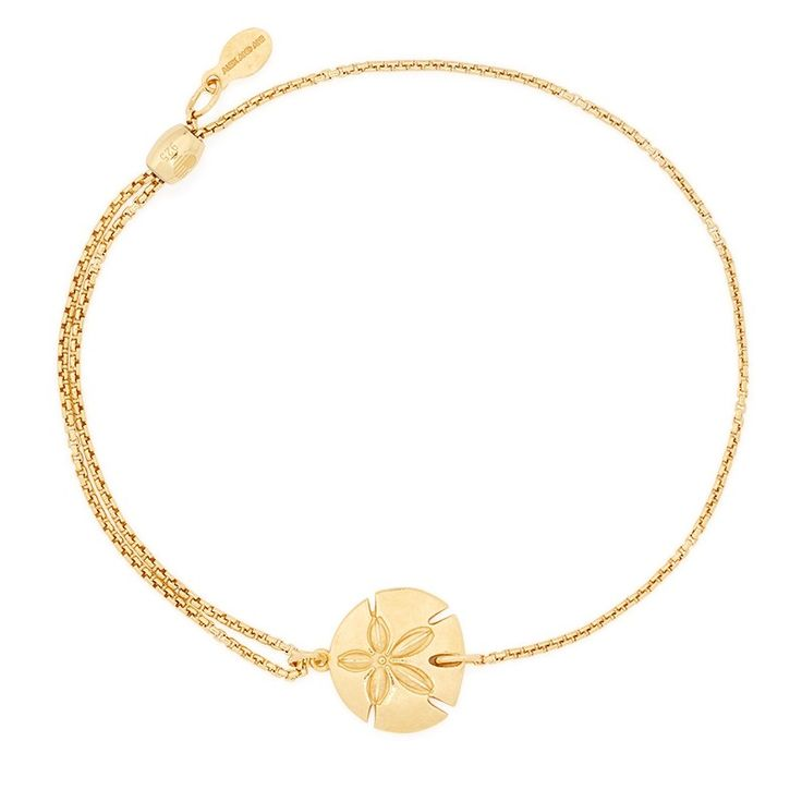 Sand Dollar Pull Chain Bracelet | ALEX AND ANI in 14K Goldplated