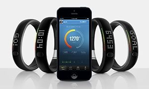 Through a sports-tested accelerometer, Nike+ FuelBand tracks your daily activity including running, walking,basketball, dancing and dozens of everyday activities. It tracks each step taken and calorie burned. It also tells the time of day.