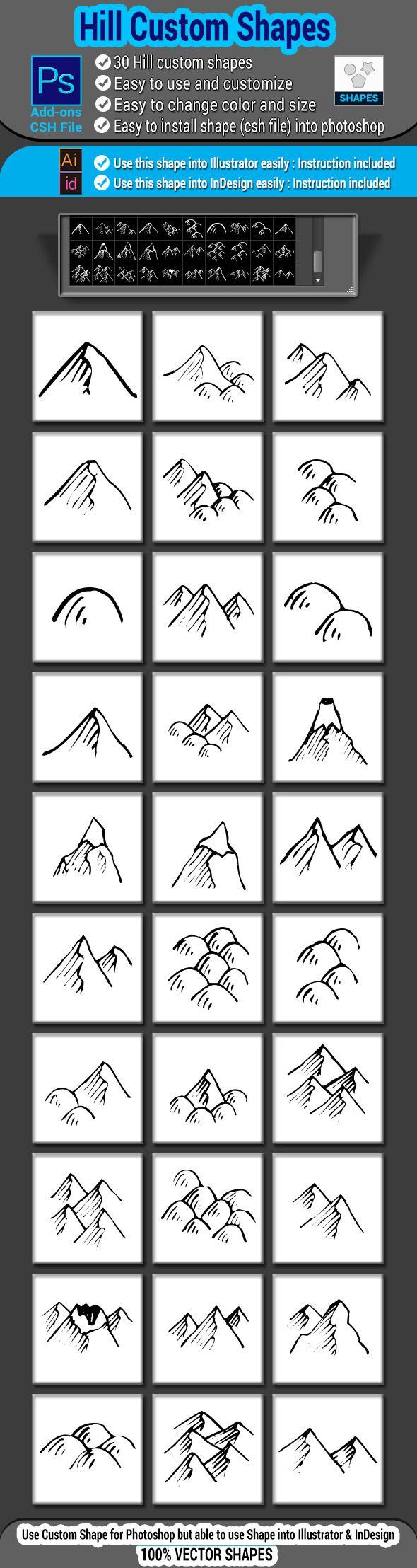 Hill Custom Shapes Custom, Photo template, Shapes