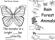 Rain Forest Animals Book, A Printable Book - EnchantedLearning.com