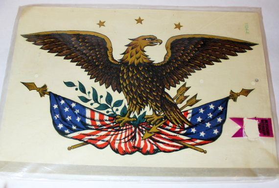 Colonial Eagle Decal Americana Sticker Transfer For