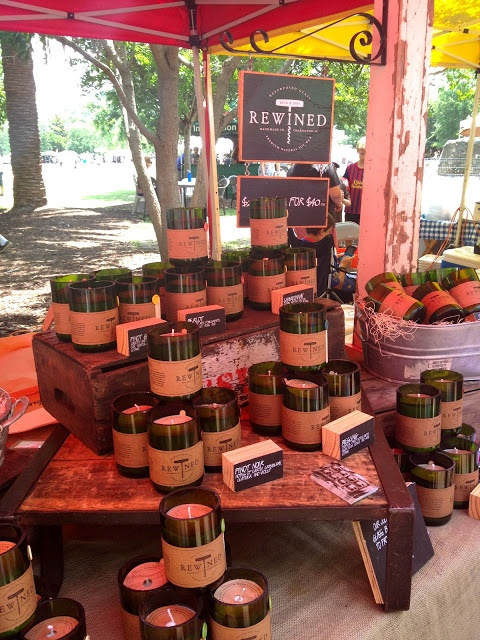 Charleston Farmers Market and Rewinded candles! Yes, please. :D