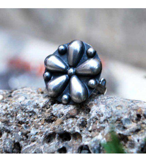 5 Petal Silver Rings