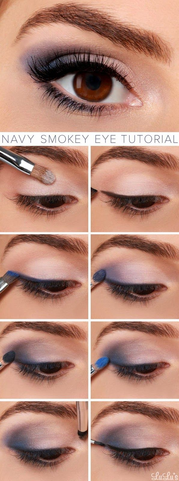 Navy Smokey eye tutorial