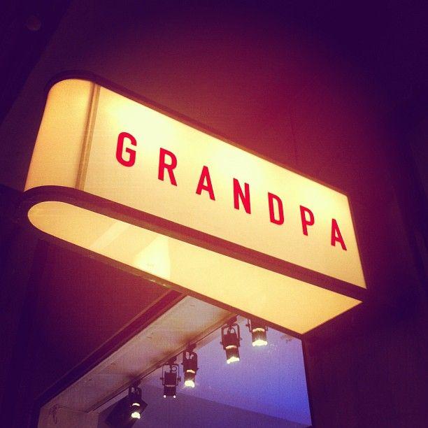 Grandpa light sign
