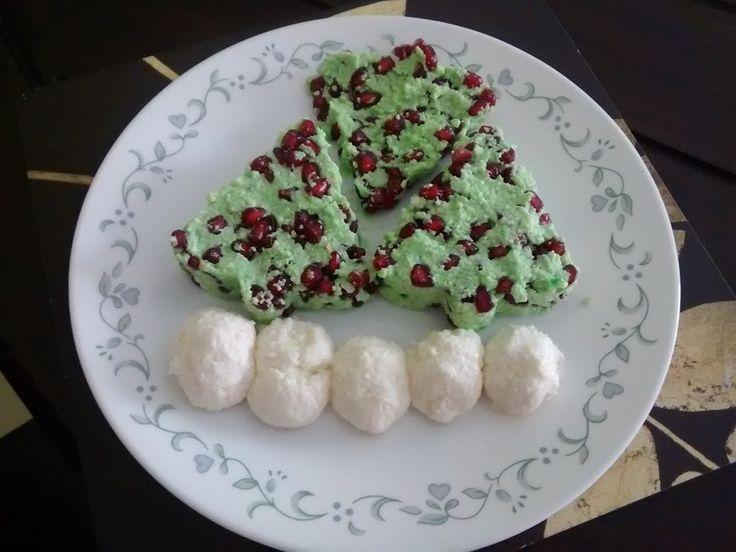 Colourful Sandesh tree n snowball - Mithai