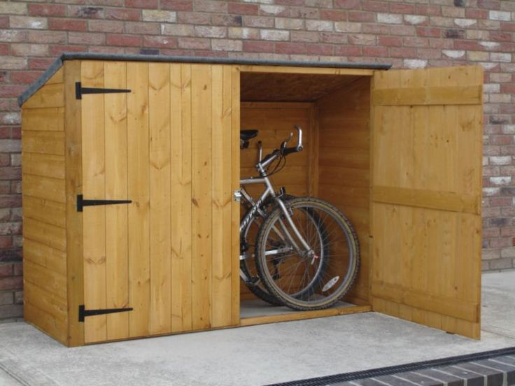 Diy Backyard Bike Shed Garden Pinterest Affordable