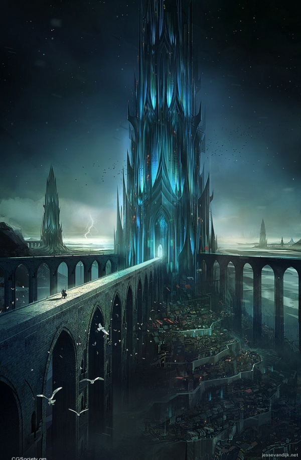 The Spire, art numérique anonyme #digitalart #environment #conceptart