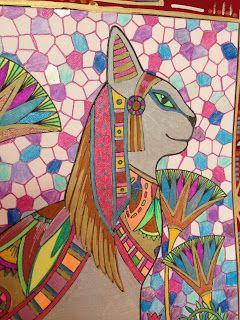 * * *La boite à idées de l' atelier 3B* * * chat égyptien