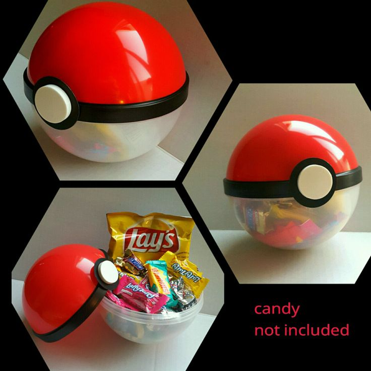 ●•Pokemon Themed Party▪ Pokeball Favor Containers•●