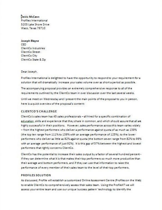 14+ Sample Proposal Letter Templates – PDF, DOC