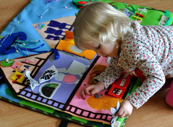 Big Developing Play Mat Felt Play Mat Quiet Time by WeriBeauties