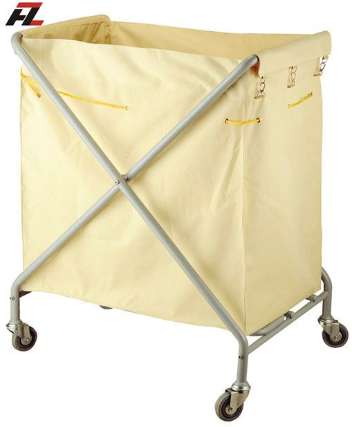 Hotel Folding Metal Linen Collection Trolley-Laundry Trolleys