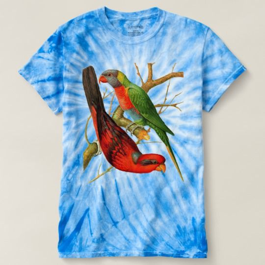 Vintage Parrots V2 Retro Style Tie-Dye T-Shirt