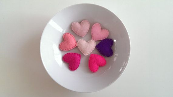 Pink Hearts for Wedding Valentine's Day