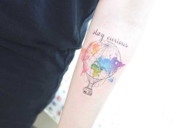 49 best tattoos images on pinterest ink air balloon tattoo neat air balloon and world map tattoo by tattooistbanul gumiabroncs Image collections