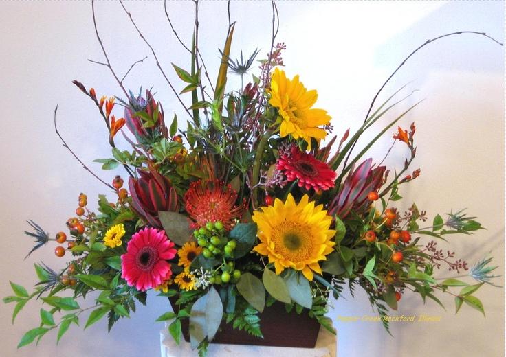 Call pepper creek for fresh fall floral arrangements