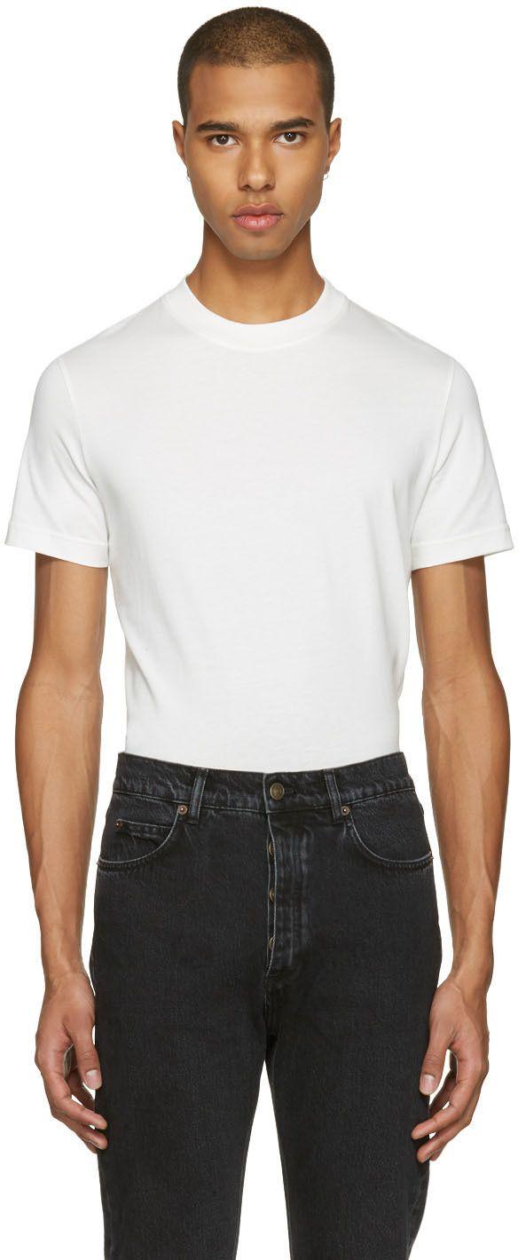 BALENCIAGA T-Shirt À Logo Blanc. #balenciaga #cloth #blanc