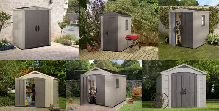 Keter Factor Sheds. Read about these 6 low maintenance resin sheds: