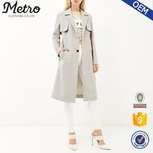 Trade assurance OEM Manufacturer Custom high quality women Light grey midi trench coat  Best Buy follow this link http://shopingayo.space