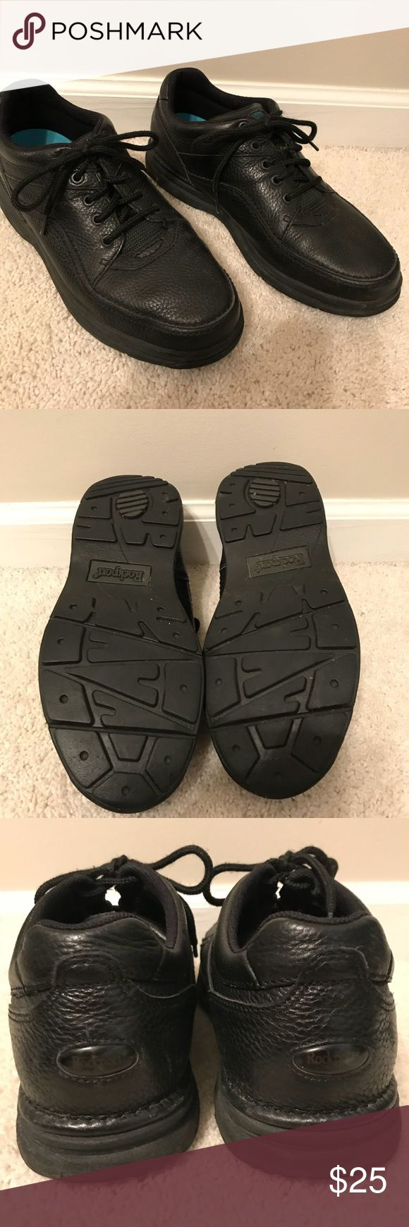 Men's Rockport shoes Men's leather upper black size 10 1/2 Rockport brand shoes- like new condition. Smoke free/ pet free environment. Rockport Shoes Athletic Shoes