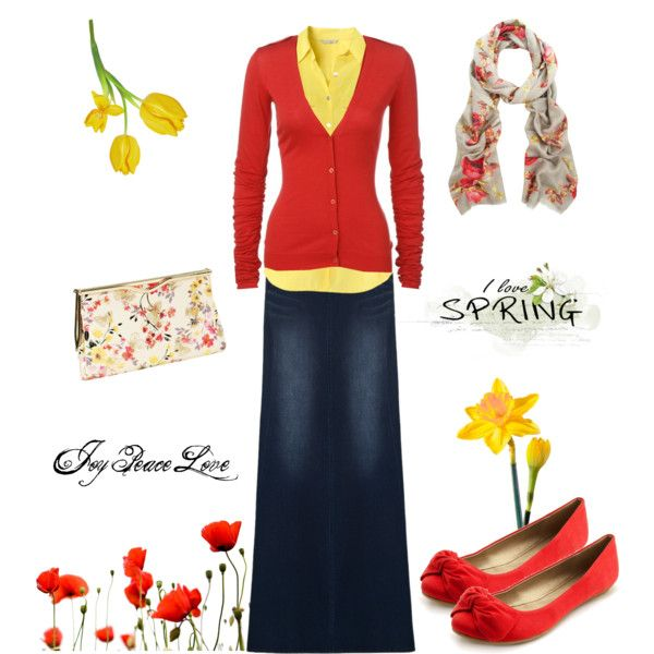 """""""Signs of Spring"""" by audge999 on Polyvore color scarf cardigan coral"""