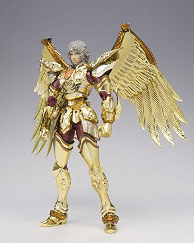 """Bandai Tamashii Nations Saint Cloth Myth Legend Sagittarius Aiolos """"Saint Seiya Legend of Sanctuary"""" Figure   Bandai Tamashii Nations Saint Cloth Myth Legend Sagittarius Aiolos """"Saint Seiya Legend of Sanctuary"""" Figure Straight from the beautifully crafted cg world of legend of sanctuary comes the ever loyal gold saint, Sagittarius Aiolos. Second in the line up, Sagittarius is fully articulated and can be posed with 3 interchangeable head parts, including the full mask from the movie!.."""