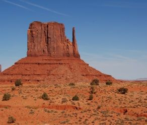 Monument Valley straddles the Arizona-Utah border and is like something out of a cowboy movie.