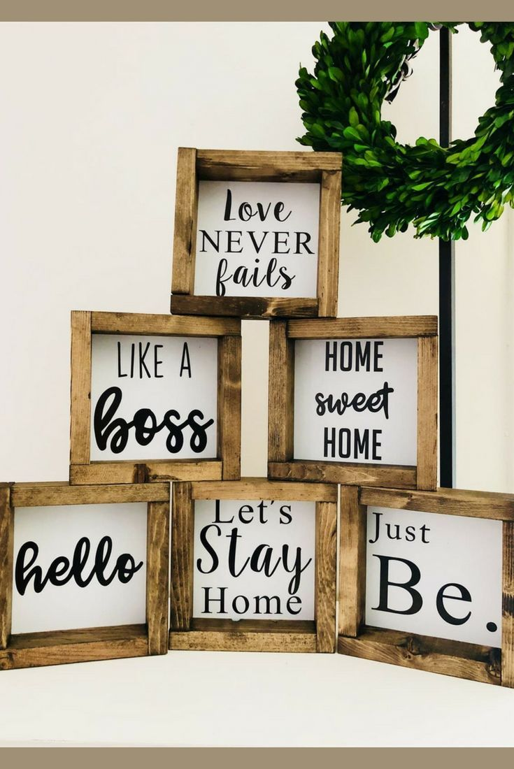 Handmade Small Wood 6 Farmhouse Style Decorating Farmhouse Style Diy Handmade Home Decor