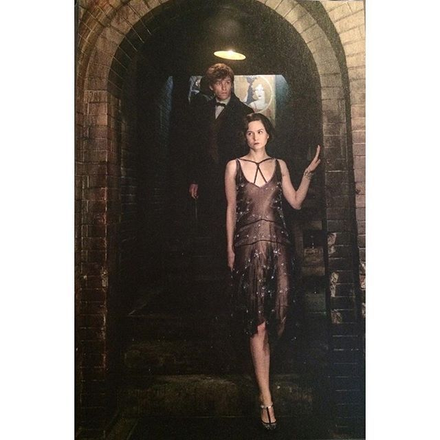 Kinda bad quality but you can see Tina's full flapper dress Plus Newt behind her! . . . . . . . . .
