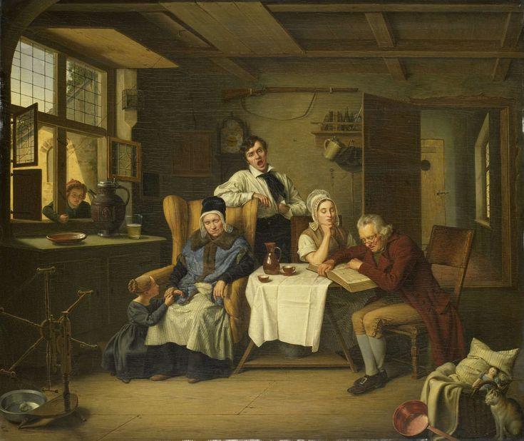 Bible Reading, Eduard Karl Gustav Lebrecht Pistorius, 1831