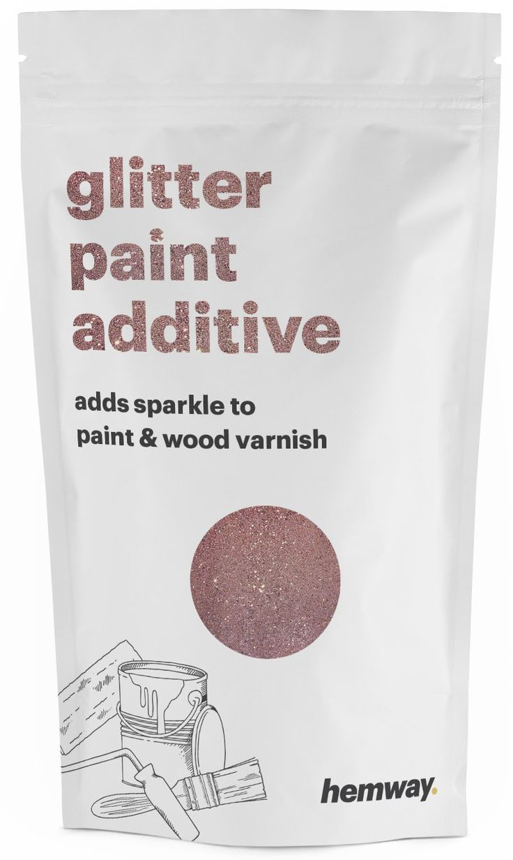 Hemway (Rose Gold) Glitter Paint Additive Crystals 100g / 3.5oz for Acrylic Latex Emulsion Paint - Interior Exterior Wall, Ceiling, Wood, Varnish, Dead flat, Matte, Gloss, Satin, Silk