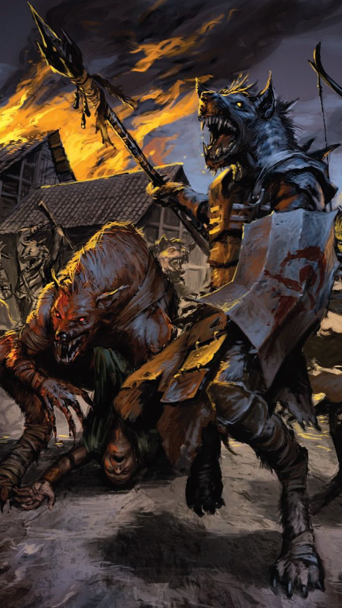 When gnolls strike a village they do not only leave no survivors but no corpses…