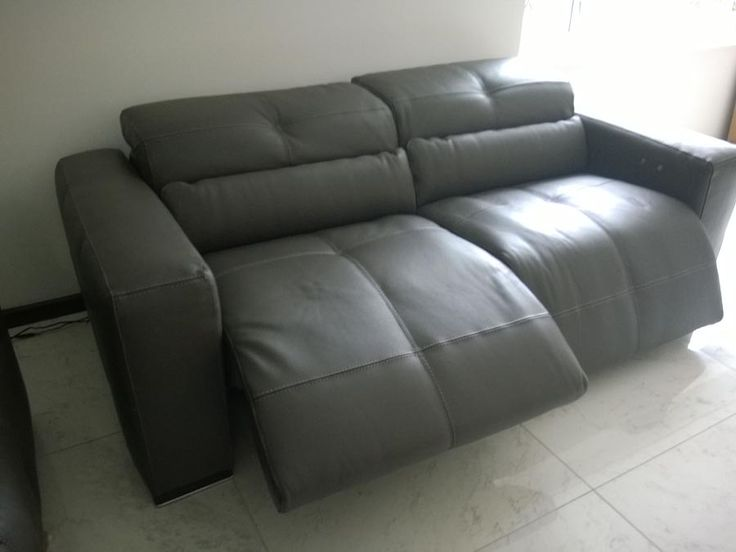 Sofa Slipcovers Milano sofa with electric reclining seats and adjustable headrests in Italian leather Delivered to our