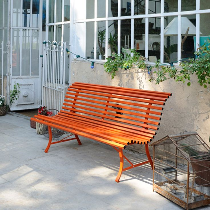 fermob louisiane bench a colourful modern metal garden bench - Garden Furniture Metal