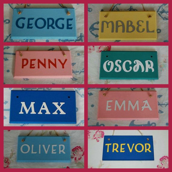 Personalised Care Home Nursing Home Room Door Name Sign /